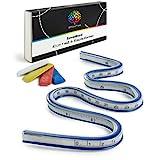OfficeTree Regla Flexible 40 cm - Curva Flexible de Vinilo - Regla Curva Flexible - Para Coser Dibujar con Herramientas Adecuadas - 4x Tizas