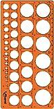 Maped M277620 - Trazador de Círculos de 1 a 35 mm, naranja