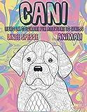 Libro da colorare per alleviare lo stress - Linee spesse - Animali - Cani