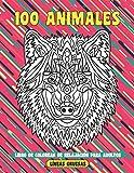 Libro de colorear de relajación para adultos - Líneas gruesas - 100 animales