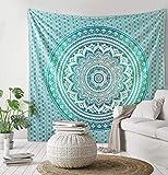The Art Box Mandala tapiz de pared para colgar en la pared, tapiz Ombre para colgar en la pared, diseño de mandala, multicolor