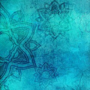 mandala azul turquesa