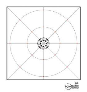 primera estructura del mandala dibujado