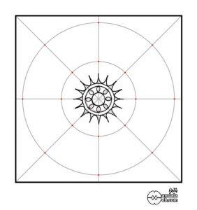 esquema básico del mandala dibujado