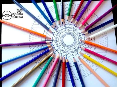Elegir los colores adecuados para colorear mandalas