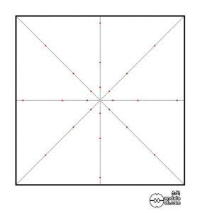 puntos en las diagonales para dibujar un mandala