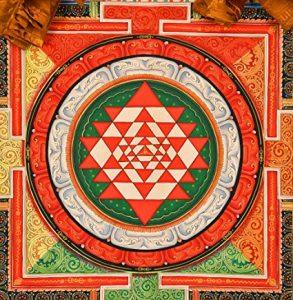 mandala hindú que muestra el círculo y el cuadrado