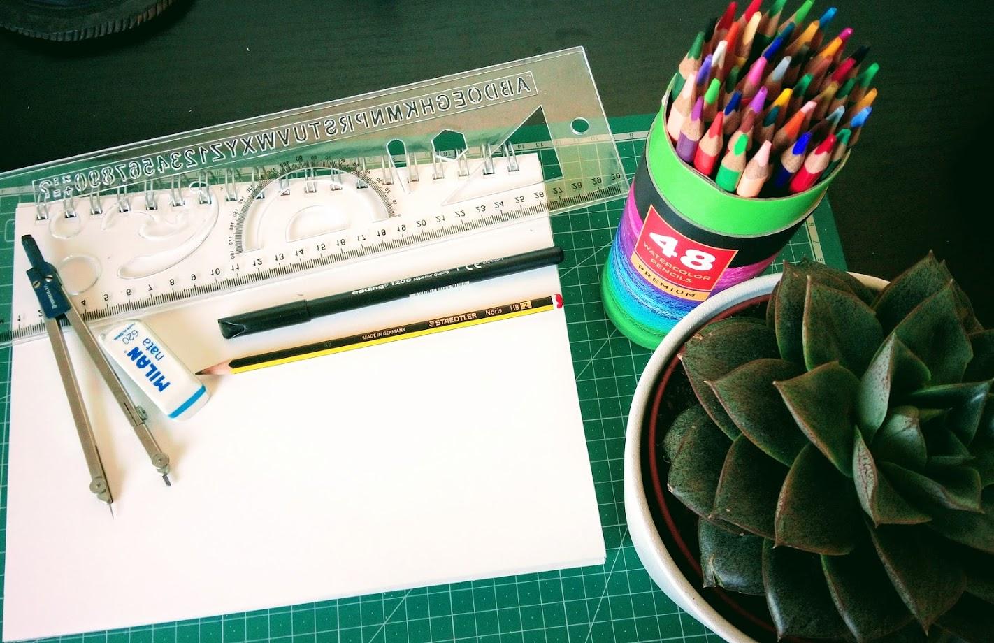 materiales para dibujar un dibujo mandala sencilla