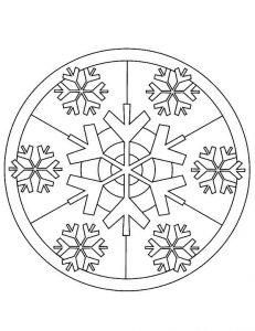 mandala de navidad