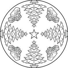 mandala arbol de navidad