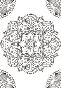 mandala budista flor