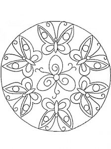 mandala 6 mariposas