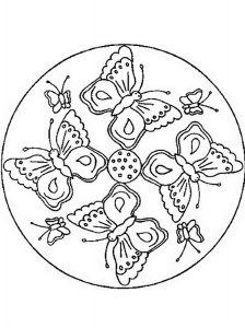 mandalas de animales para colorear fáciles mariposas y mariposillas