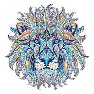 mandala león coloreado