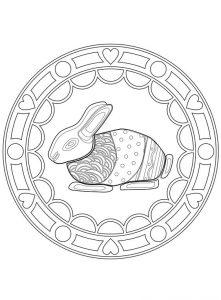 mandala conejo de pascua