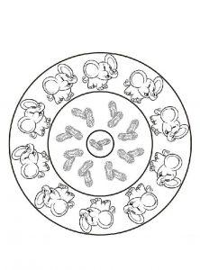mandalas de animales para colorear fácilesdumbo