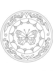 mandala mariposa corazón