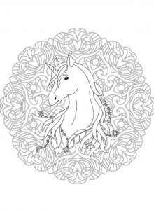 mandala unicornio