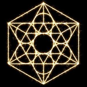 mandala con triangulos y circulos