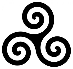 mandala celta triskel