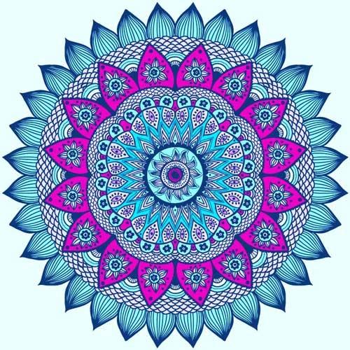mandalas coloreados alegres