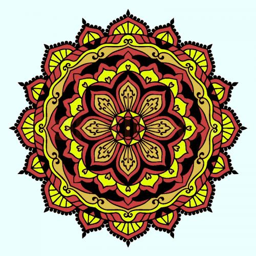 mandalas coloreados n tonos tierra