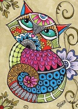 mandala coloreado gata