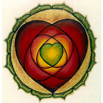 mandala para meditar corazón budista