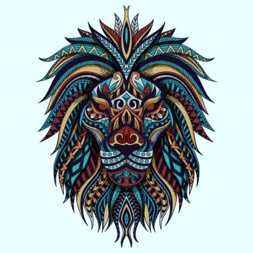 mandala coloreado leon 2