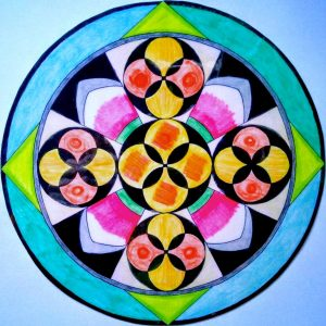 mandalas coloreadas a mano.