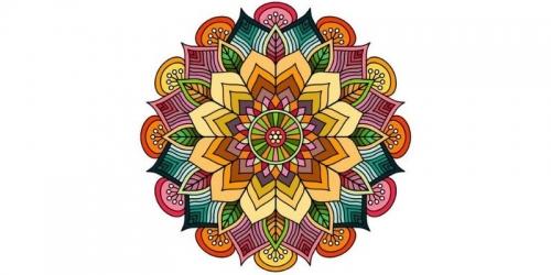 mandalas coloreados flores de otoño