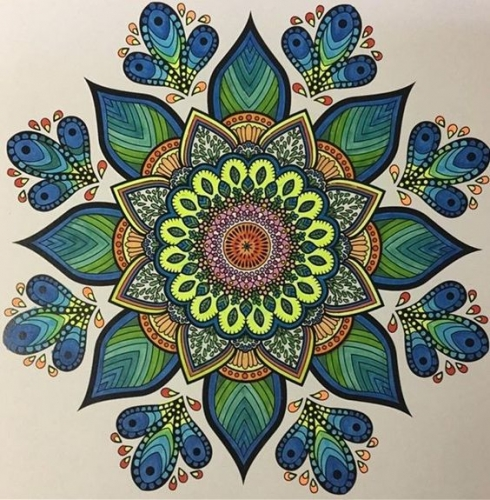 mandalas coloreados flores