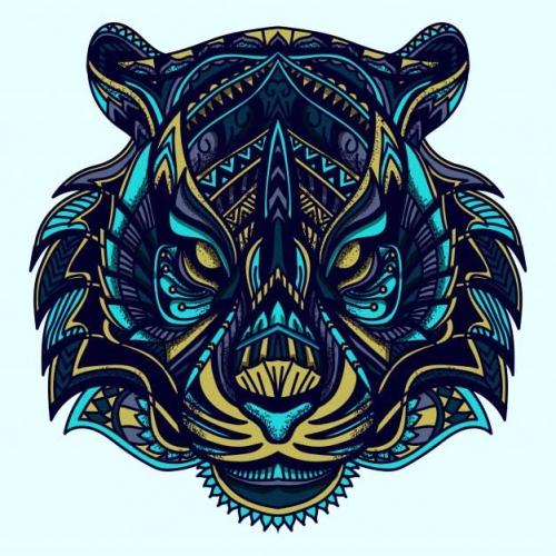 mandala coloreado leon 3