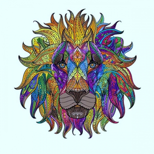 mandala coloreado leon 4