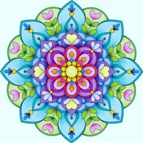 mandalas coloreados flores tonos pastel
