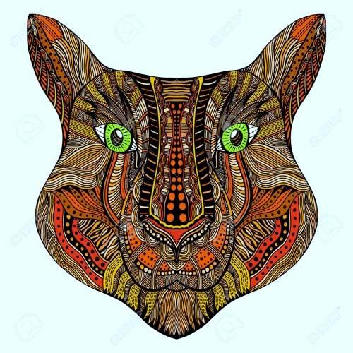 mandala coloreado de tigre