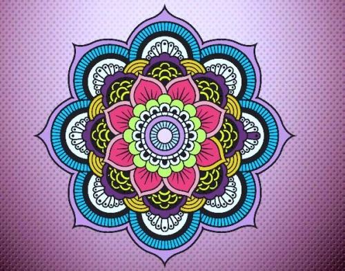 mandalas coloreadas flores