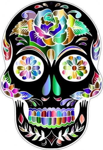 mandalas coloreados de calaveras