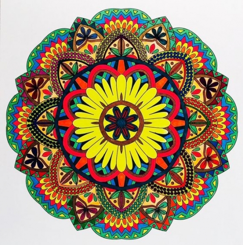 mandalas coloreados dificiles