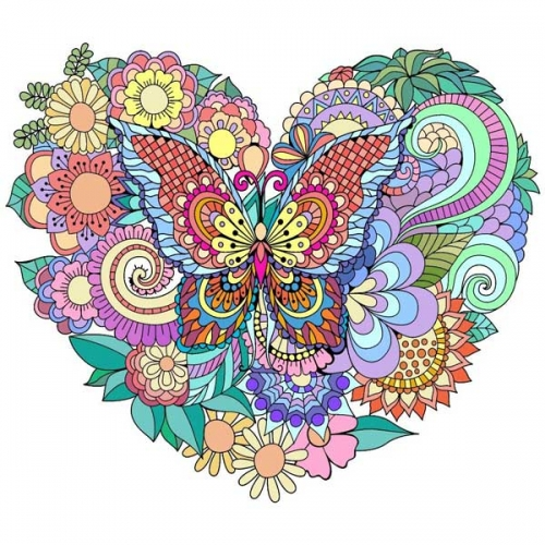 mandalas coloreados mariposas