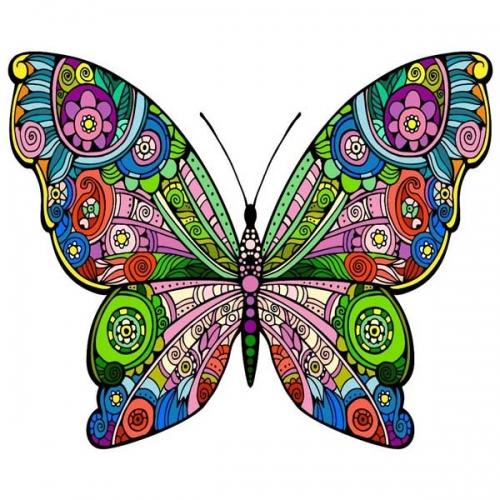 mandalas coloreados mariposa