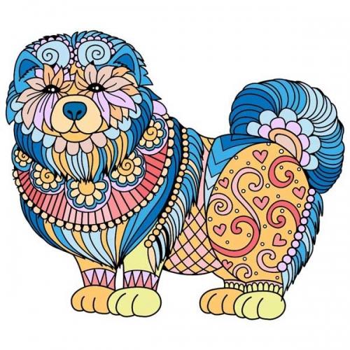 mandalas coloreados perro