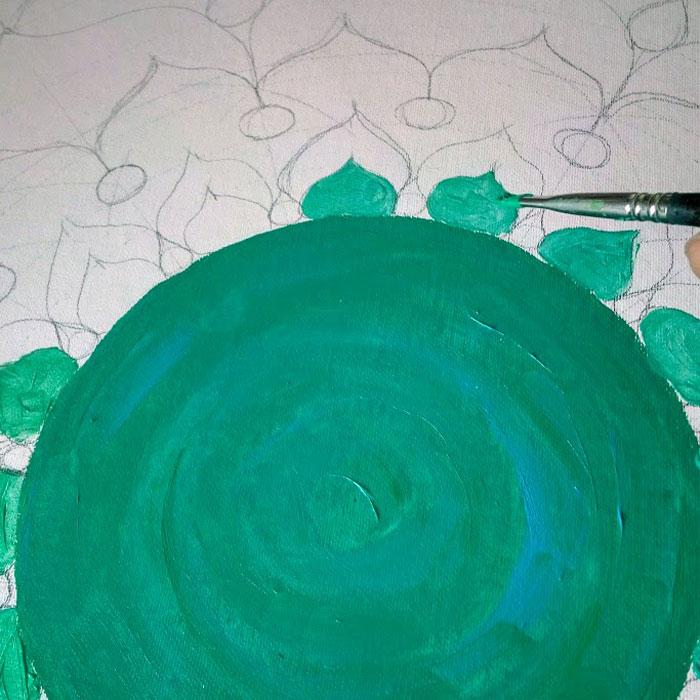 3-mandala sobre lienzo