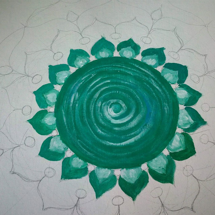 4-mandala sobre lienzo