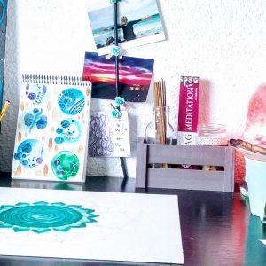 5-mandala sobre lienzo