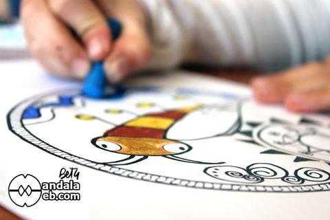 Mandala para pintar para niños