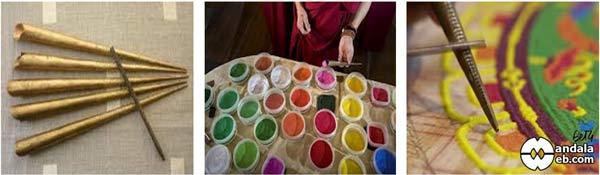 Arena de colores y chak-pur