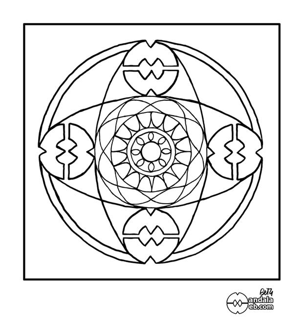 Mandala dibujado terminado