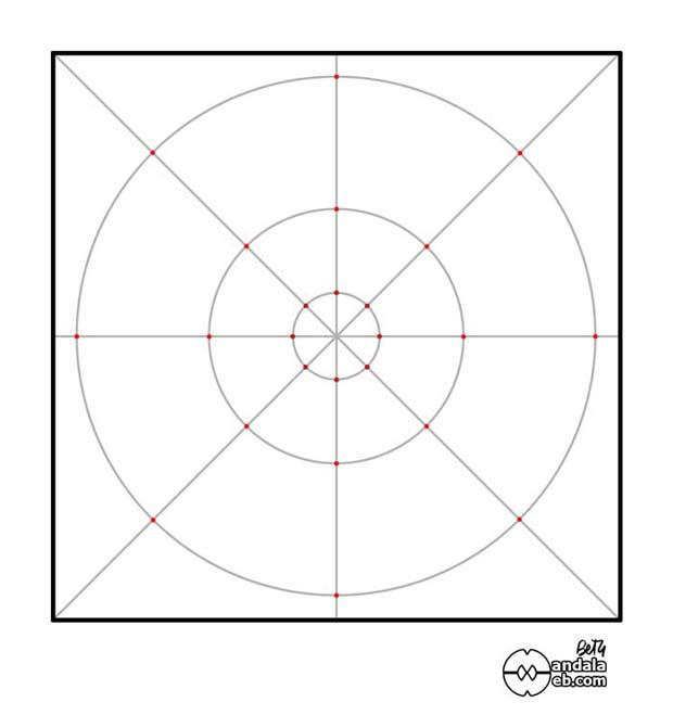 Como dibujar una mandala plantilla