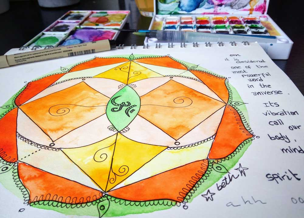 mandala budista coloreado